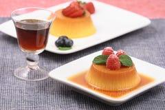 flan десертов стоковые фото
