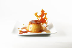 Flan - Creme caramel with caramelized creation Royalty Free Stock Images