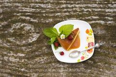 Flan creme karmelu deser Zdjęcie Stock