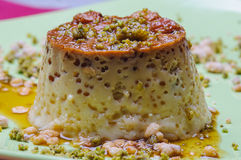 Flan custard. Tyropatina vanille or egg is a typical dessert in europe Stock Photo