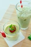 Flan de Matcha Image stock