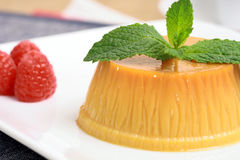 Flan dessert Royalty Free Stock Photography