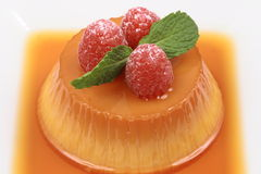 Flan dessert. Sweet delicious flan dessert perfect snack or just an exquisite indulgence Royalty Free Stock Photo