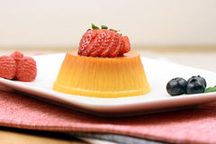 Flan dessert Stock Photo