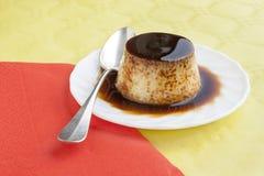 Flan dessert Stock Image