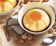 Flan, dessert spagnolo tradizionale Fotografia Stock Libera da Diritti