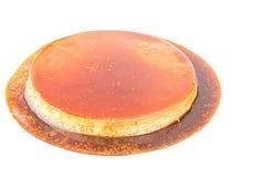 Flan fresco del caramello di crema con sapore del caffè Immagini Stock