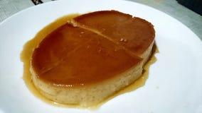 Flan Leche γλυκό επιδόρπιο των Φιλιππινών Στοκ Εικόνες