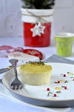 Flan with ricotta and green peas. Stock Images