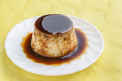 Flan with syrup Royalty Free Stock Photography