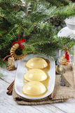 Flan, traditional spanish dessert Royalty Free Stock Images