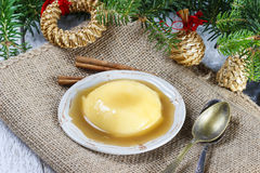Flan, traditional spanish dessert Royalty Free Stock Photo