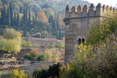 Flanc de coteau en terrasse d'Alhambra Images libres de droits