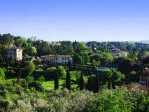 Flanc de coteau italien de village Photographie stock libre de droits