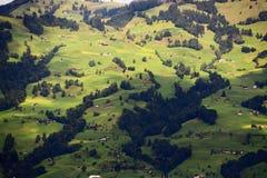 Flanc de coteau suisse Images stock
