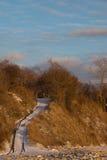 flanc lié par neige Image libre de droits