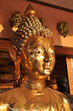 Flanc principal en laiton de visage de Bouddha Image libre de droits