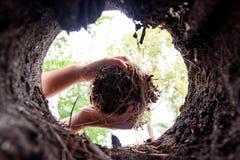 Flancowanie błocić dziury Zdjęcie Royalty Free
