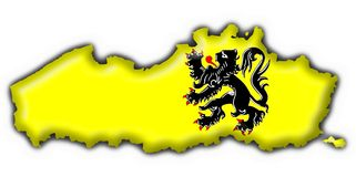 Flanders button flag map shape. Flanders button flag 3d made Royalty Free Stock Photos