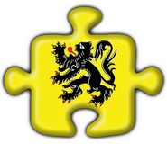 Flanders button flag puzzle shape. Flanders button flag 3d made Stock Photo
