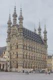 Flanders medeltida arkitektur arkivbild