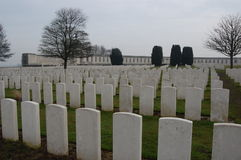 Flanders Tyne Cot. First World War cemetery Tyne Cot Flanders Belgium Stock Photography