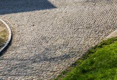 Дорога булыжника Flandres - деталь стоковые изображения rf