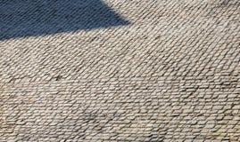 Flandres kullerstenv?g - detalj royaltyfri fotografi