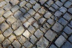 Дорога булыжника Flandres - деталь стоковые фотографии rf