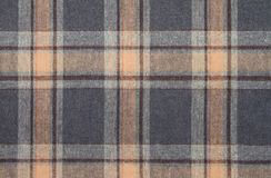 Flanell, Baumwolle in die klassische schottische Zelle als Textilhintergrund lizenzfreies stockbild