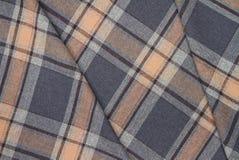 Flanell, Baumwolle in die klassische schottische Zelle als Textilhintergrund stockfoto