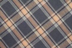 Flanell, Baumwolle in die klassische schottische Zelle als Textilhintergrund lizenzfreie stockbilder