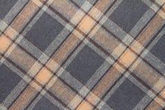 Flanell, Baumwolle in die klassische schottische Zelle als Textilhintergrund stockfotos