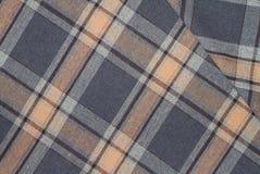 Flanell, Baumwolle in die klassische schottische Zelle als Textilhintergrund stockfotografie