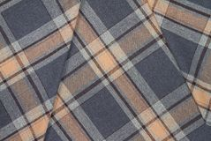 Flanell, Baumwolle in die klassische schottische Zelle als Textilhintergrund lizenzfreie stockfotografie