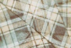 Flanell, Baumwolle in die klassische schottische Zelle als Textilhintergrund in der Weinleseart stockfoto