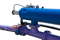 Flange connection. Industrial water pipe systems. Flange connection Stock Photo