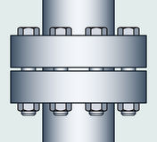 Flange connection Royalty Free Stock Photography