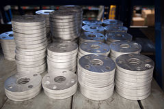 Flange de alumínio Fotos de Stock