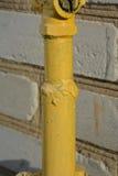 Flange pintada do metal Fotografia de Stock Royalty Free