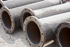 Flanged pipe Stock Images