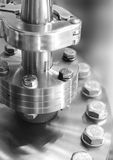 Flanged vacuum equipment. Stock Photography