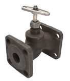 Flanged valve Royalty Free Stock Images