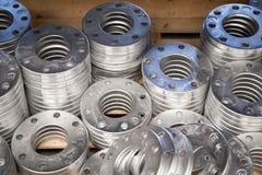 Flanges de alumínio Fotografia de Stock
