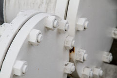 Flanges, nuts, bolts, tubes Royalty Free Stock Image