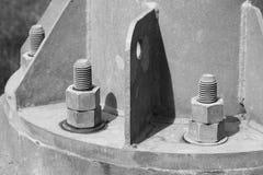 Flangia del tubo con i bulloni Immagini Stock Libere da Diritti