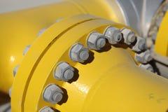 Flangia del tubo d'acciaio Fotografie Stock