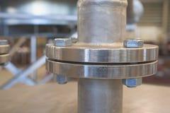 Flangia dell'acciaio inossidabile Fotografie Stock Libere da Diritti