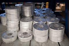 Flangia di alluminio Fotografie Stock