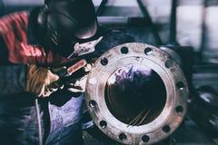 Flangia piana della saldatura all'acciaio del tubo immagine stock